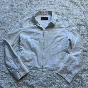 Loro Piana White Zipper Jacket